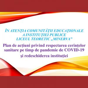 """ÎN ATENŢIA COMUNITĂŢII EDUCAŢIONALE A INSTITUŢIEI PUBLICE LICEUL TEORETIC """"MINERVA"""""""